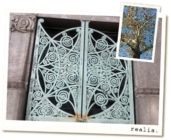 A mausoleum door in Chicago's historic Graceland Cemetary