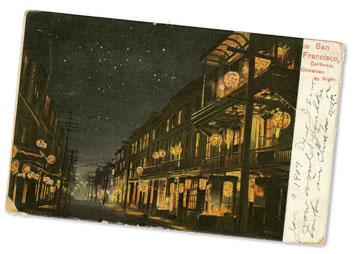 realia: Night scene - Chinatown'