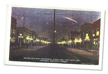 realia: Night scene - Haley's comet