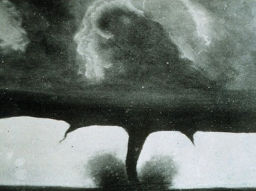 Oldest known tornado photo, courtesy of NOAA's National Weather Service Collection, http://www.photolib.noaa.gov/nws/